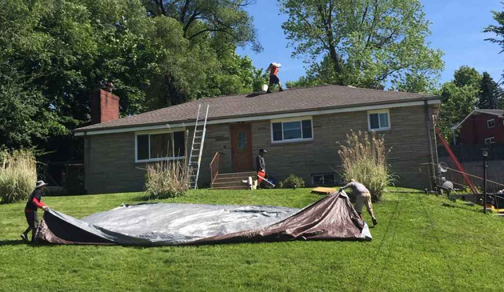 Roofing Installation Clean UP in Ross